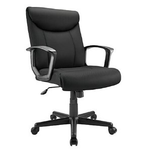 Brenton Studio Fabric Mid Back Task Chair Black by Office Depot & OfficeMax