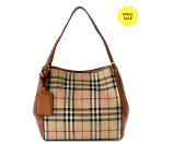 Burberry Canter Small Horseferry Check & Leather Tote