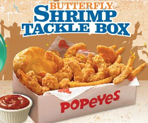 Only $5Butterfly Shrimp Tackle Box or Cajun Surf & Turf Meal