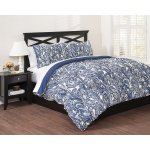 Republic Paisley Indigo Reversible Comforter Set, King, King