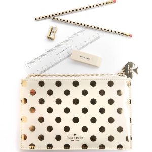 Kate Spade Gold Dots Pencil Pouch   South Moon Under