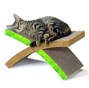 降啦,史低!$8.99( 原价 $17.99)Petstages 喵星人休憩磨爪多功能猫抓板特卖