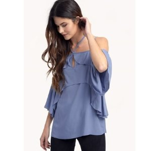 Stella Double Ruffle Top
