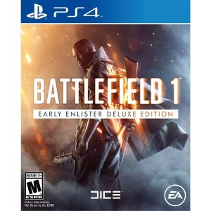 $32.99 ($39.99 w/o GCU)Battlefield 1 Early Enlister Deluxe Edition (PS4 or Xbox One)