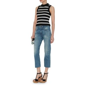 Exclusive for Intermix Shiloh Striped Mock Neck Sleeveless Knit | Shop IntermixOnline.com