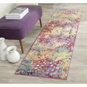 Safavieh Monaco Abstract Watercolor Pink/ Multi Rug (2'2 x 8') - 16690188 - Overstock.com Shopping - Great Deals on Safavieh Runner Rugs