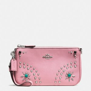 Western Rivets Nolita Wristlet 19 In Glovetanned Leather