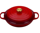 Limited Edition 3.75QT. Signature Braiser with Gold Knob by Le Creuset