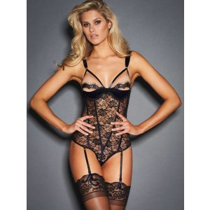 Nala Satin And Lace Teddy | Frederick's of Hollywood