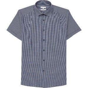 Oe Hayward Navy Grid Check Shirt