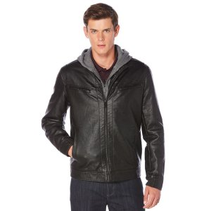 Bomber Jacket w/ Removable Hood | Perry Ellis
