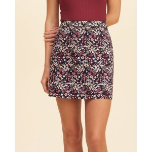 Girls Printed Twill A-Line Skirt