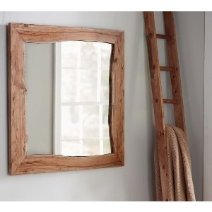 Live Edge Wood Wall Mirror | Pottery Barn