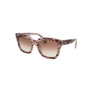 Valentino 667S-291-52 Sunglasses,Women's Square Translucent Pink Sunglasses, Sunglasses Valentino Women's Sunglasses