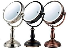 Ovente 8.5 inch SmartTouch Three Tone LED Makeup Mirror