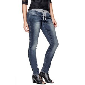 Meilani Ribbed-Waistband Skinny Jeans | GuessFactory.com