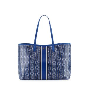 Tory Burch Gemini Link Tote Bag, Jewel Blue
