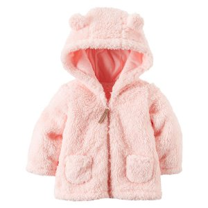Baby Girl Sherpa Hooded Jacket | Carters.com