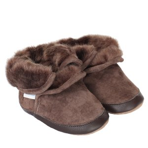 Brown Cozy Ankle Baby, Infant, Toddler Boots | Robeez
