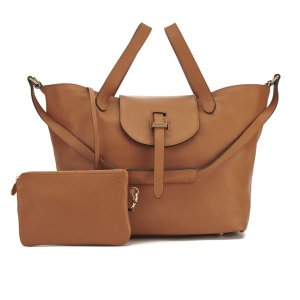 meli melo Women's Thela Classic Leather Tote Bag - Tan - Free UK Delivery over £50