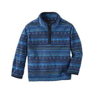 Toddler Boy Quarter-Zip B'gosh Fleece Cozies | OshKosh.com