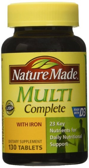 $5.76 + Free Shipping Nature Made Multi Complete with Iron 130 Tablets