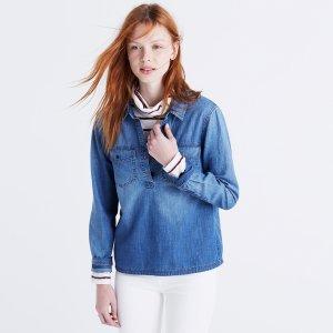 Denim Pocket Popover Shirt