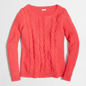 Cable scoopneck sweater : Pullovers | J.Crew Factory
