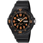 $16.2 Casio Men's Sport Analog Orange-Accented Dive Watch