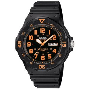Casio Men's Sport Analog Orange-Accented Dive Watch