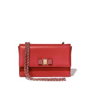 Salvatore Ferragamo Miss Vara Bow Clip Crossbody Bag, Rosso