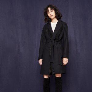 GYPSO Oversized fringed coat - Coats & Jackets - Maje.com