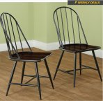 $19.99 Simple Living Milo Mixed Media Dining Chairs (Set of 2)