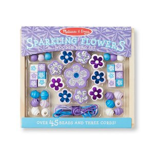 Melissa & Doug Sparkling Flowers Wood Bead Set | zulily