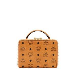 Berlin Luggage Box Bag in Cognac Visetos by MCM