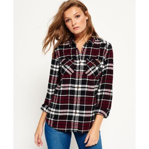 Superdry Milled Flannel Shirt - Women's Shirts