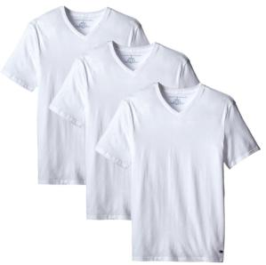 Extra $5 Off Tommy Hilfiger Men's 3-Pack Cotton V-Neck T-Shirt