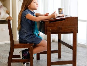 Casual Home Child's Slanted Top Desk and Chair