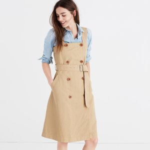 Khaki Trench Dress