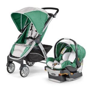 $249.99(原价$379.99)智高Chicco Bravo Trio系列汽车座椅+推车套装 绿色款