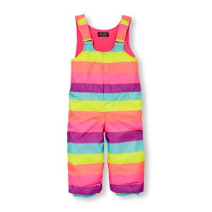 Toddler Girls Printed Snow Overalls   The Children's Place