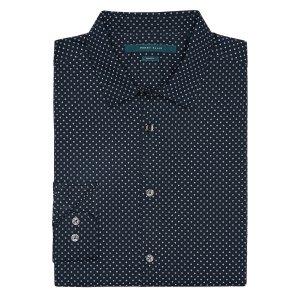 Slim Fit Circle Dot Print Shirt | Perry Ellis