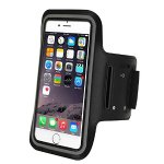 Refoss Water Resistant Sports Armband with Screen Protector for iPhone 7, 7 Plus, 6, 6S, 6 Plus(5.5-Inch), Galaxy S6/S5, Note 4 with Key Holder