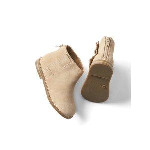 Fringe-trim booties | Gap