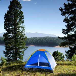 $11.99(reg.$39.99) Happy Camper Two Person Tent by Wakeman Outdoors - Bold Blue
