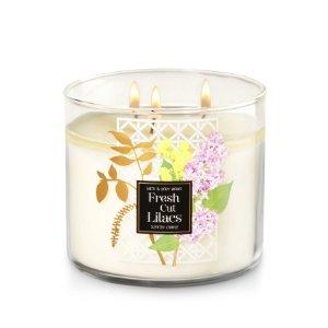 Fresh Cut Lilacs 3-Wick Candle - Home Fragrance 1037181 - Bath & Body Works