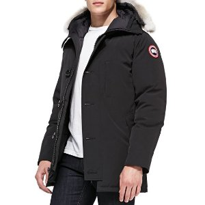 Canada Goose Chateau Arctic-Tech Parka with Fur Hood, Black