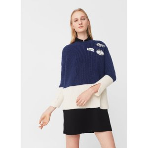 Patches knitted sweater - Woman | MANGO USA