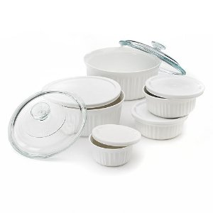 2016 Black Friday! $25.49+$10MIR CorningWare 11-pc. French White Serveware Set
