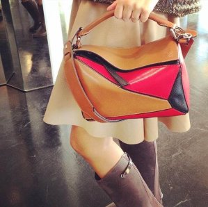 Loewe Puzzle Small Leather Shoulder Bag @ Rue La La